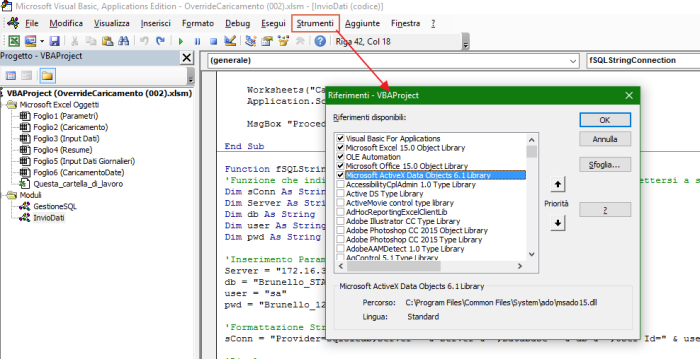 VBA: connect you Excel to Sql Server | Power Blogger BI